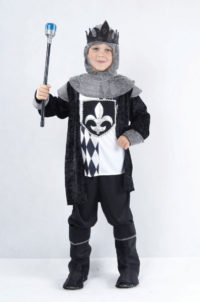 Boys Chess King Costume Royal Regal Sire Medieval Leader Ruler Fancy Dress